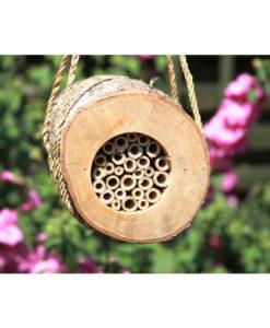 Hôtel rondin pour abeilles solitaires