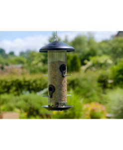 Metall-Spender für Vogelfutter