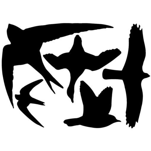 Silhouettes d'oiseaux, autocollants pour vitres